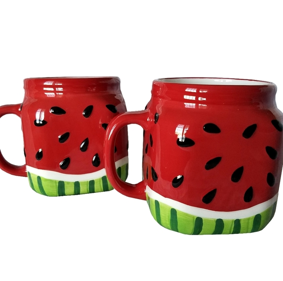 Other - 🆕Watermelon Summer Ceramic Set of 2 Mugs